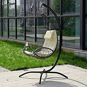 patio Hamac avec support sur pied et porte gobelet: Jardin