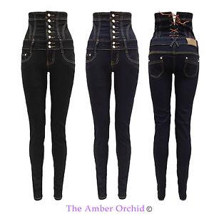 Pantalon Jeans Femme Taille Haute Slim Femme Étroit Extensible 36 44