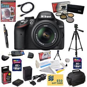 Nikon D3200 Numérique Reflex Camera Avec 18 55mm DX VR Nikkor