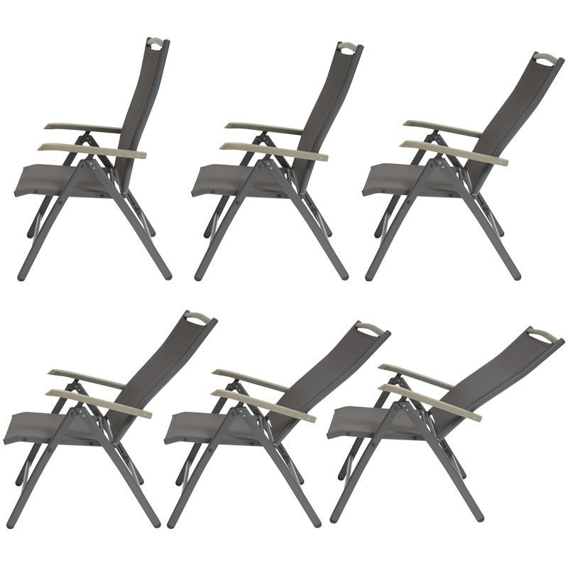 Table de jardin extensible 8 places et 6 chaises