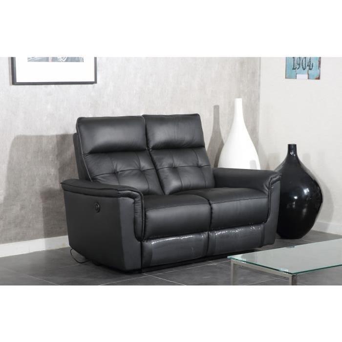MILLESIME Canapé de relaxation électrique cuir 2 places