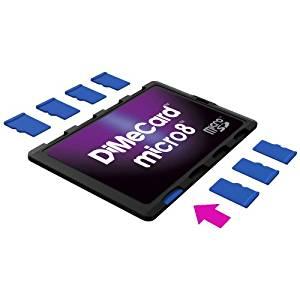 DiMeCard micro8 Porte Cartes Mémoire microSD (Ultrafin, format carte