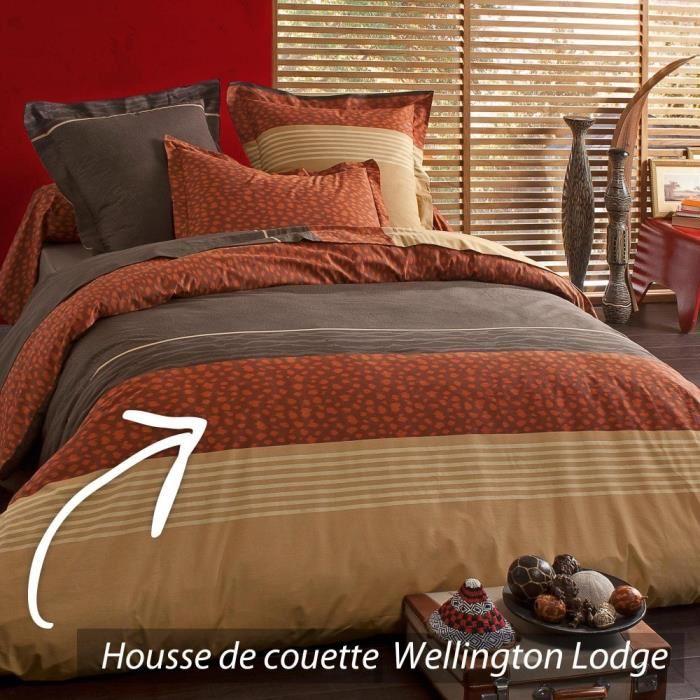 Housse de couette 200×200 cm 100% coton WELLINGTON LODGE *DESTOCKAGE