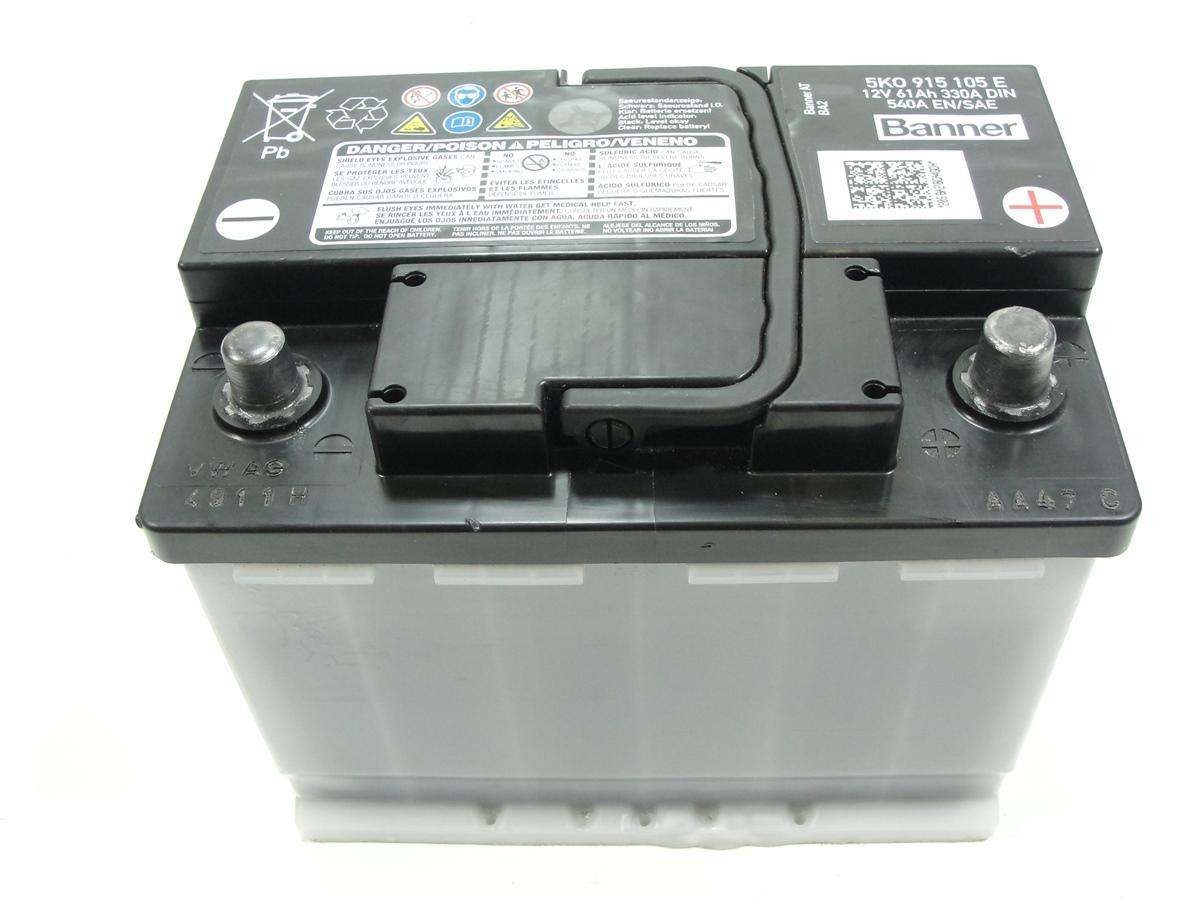 Vw golf 6 Jetta Batterie Batterie 61ah 330a 12v 5k0915105e/15442