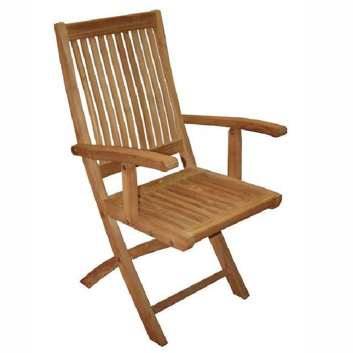 Fauteuil pliant en teck Tonga Achat / Vente fauteuil jardin Fauteuil