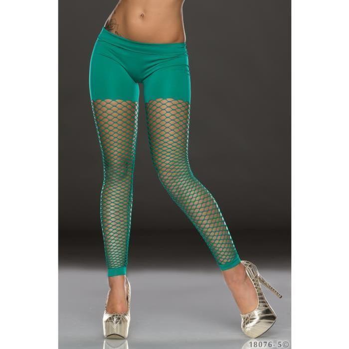 legging collant resille vert 38 Vert Achat / Vente legging