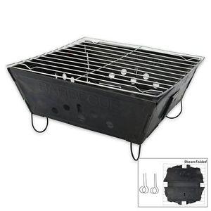 Pliable BBQ Barbecue Plat Paquet Portable Camping Jardin D'extérieur