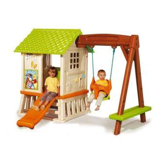 Jardin Jeux d'enfants Toboggans SMOBY Winnie L'OURSON Maison enfant