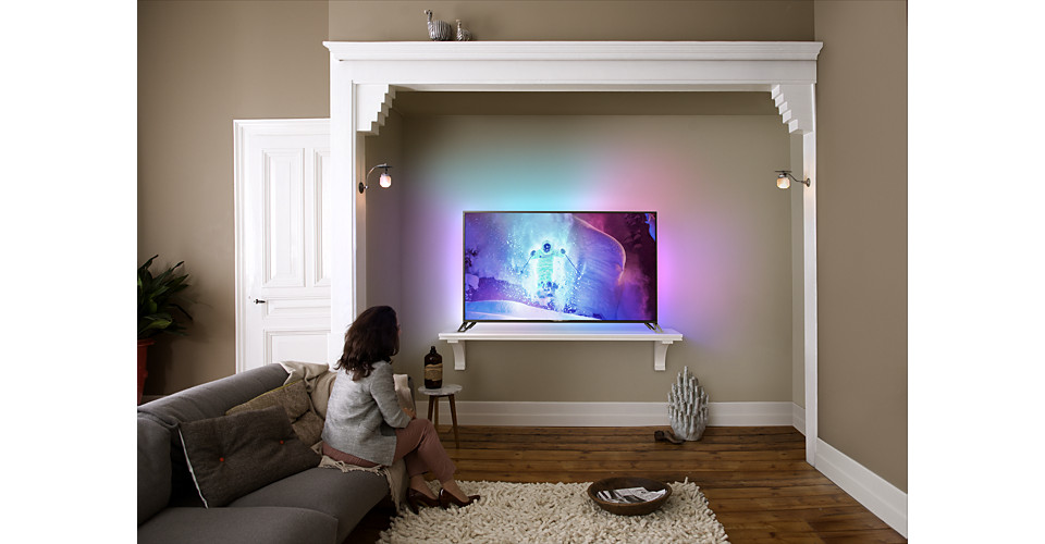 Ultraflacher 4K Ultra HD LED TV powered by Android