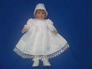 Bébé Fille Baptême Fête De Mariage Robe Bonnet 9 15 M