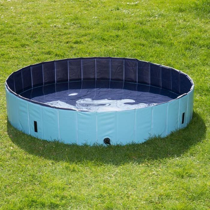 Bassin /piscine pour chien pliable anti glissant plastique 160 cm de
