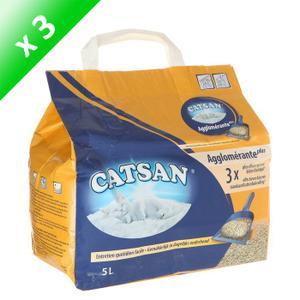CATSAN Litière Compacte Plus Agglomérante 5l (x3) Achat / Vente
