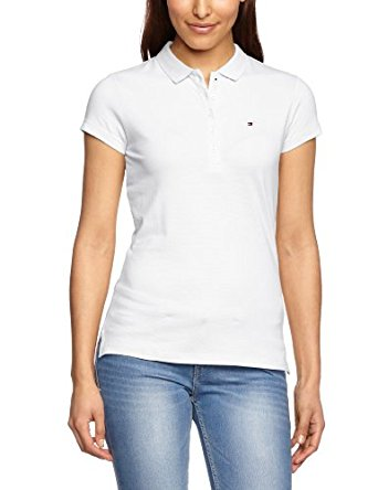 Tommy Hilfiger New Chiara Polo uni Col polo Manches courtes