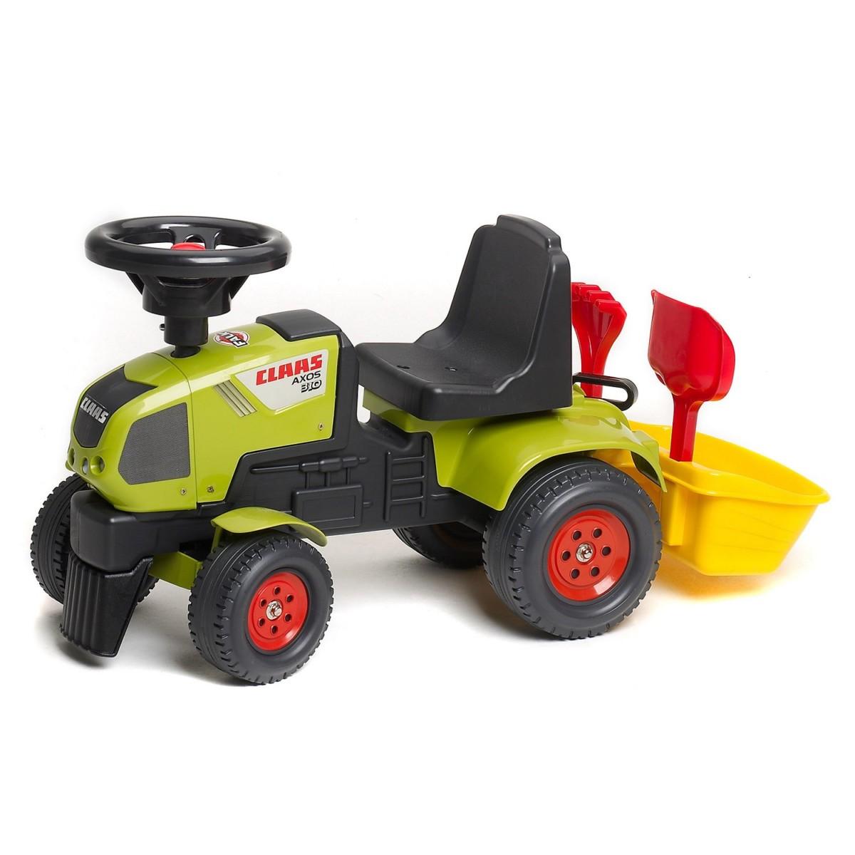 Tracteur Baby Claas Axos + Remorque et accessoires (sans
