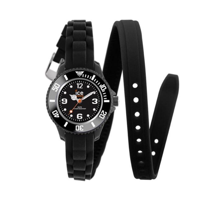 ICE WATCH Twist Noir Bracelet double tour silicone Cette montre ICE