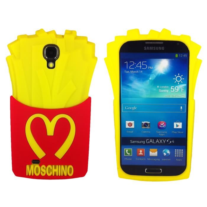 Frites Etui Housse Coque Silicone Cover Case Pour Samsung Galaxy S4