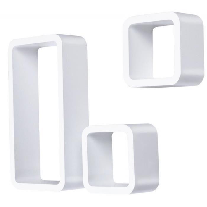 étagère murale x3 cube design blanc 2701008 Achat / Vente meuble