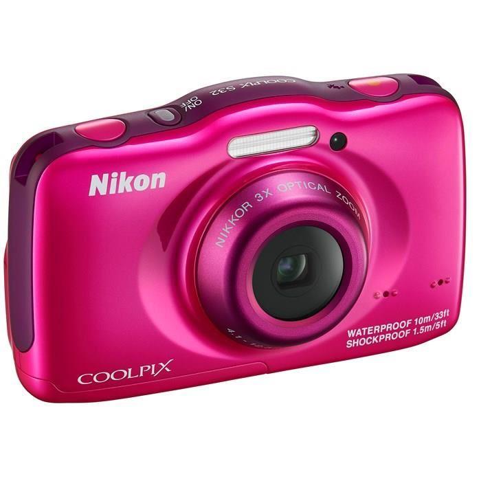 Nikon Coolpix S32 Rose pas cher Achat / Vente appareil photo
