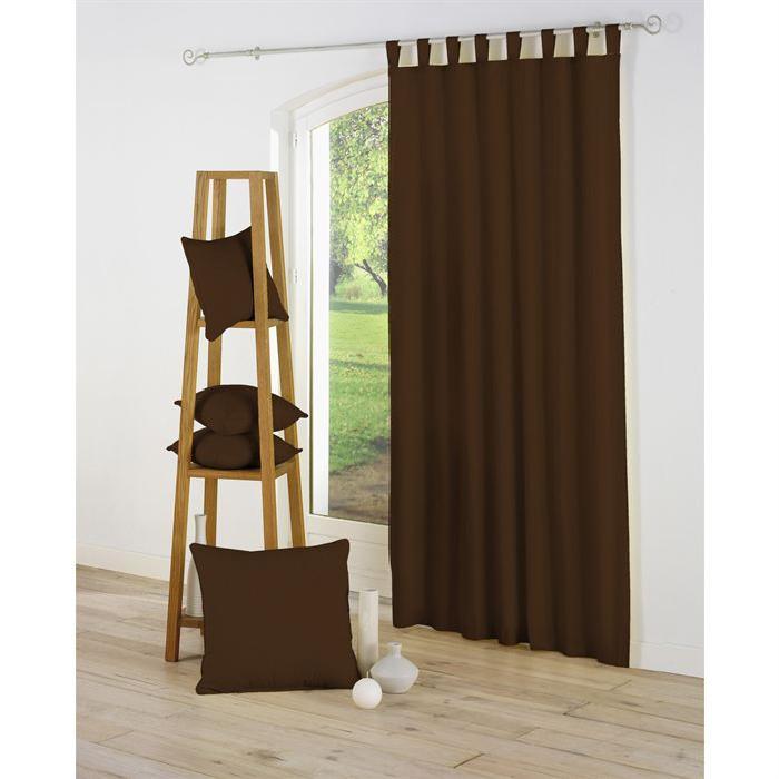 Panneau rideau à passants largeur 140 cm, hauteur 260 cm, coloris
