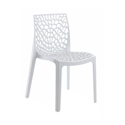 No Name Chaise design blanche Gruyer Opaque pas cher Achat / Vente
