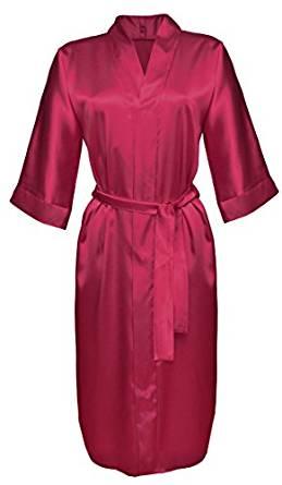 DKaren Lingerie Robes de Chambre en Satin 115 (XS 2XL)