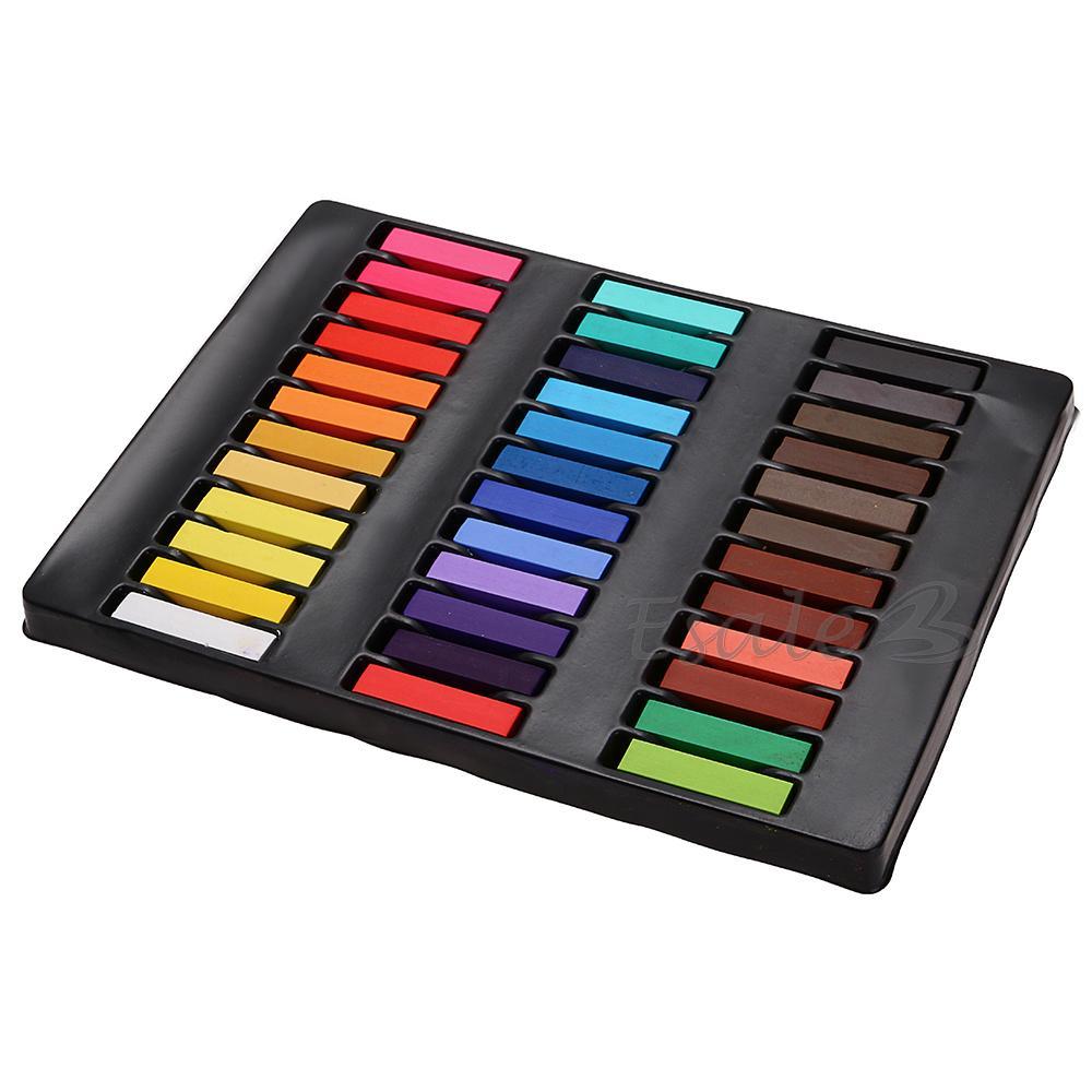 36 Couleurs Craies Cheveux Teinture Crayon Pastel Temporaire Coiffure