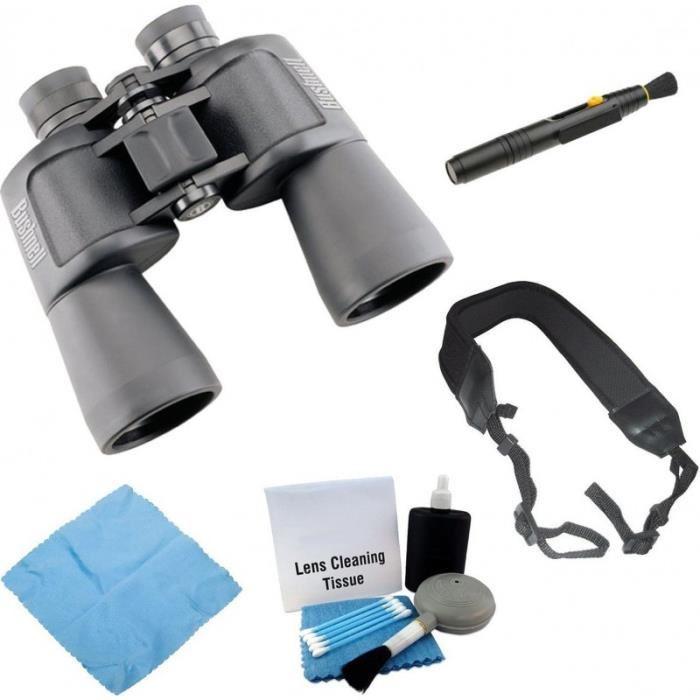 Bushnell 131250C Powerview 12×50 Grand Angle binoculaire + Kit de