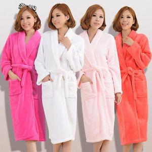 Femme Homme Pyjama Velours Peignoir Robe dinterieur Sleepwear Bathrobe