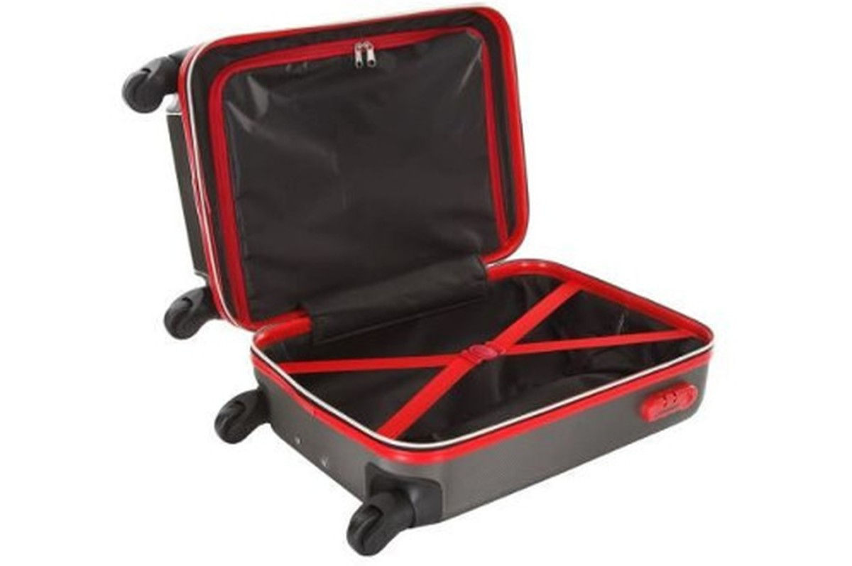 Valise Cabine Size VALISE CABINE 4 ROUES BLESSINGTON GRIS ROUGE