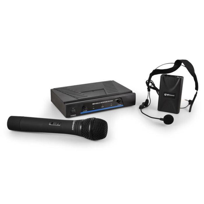 Set casque micro VHF sans fil 2 canaux Système de microphones VHF
