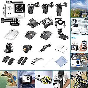 Neewer® 1080p WIFI Caméra Sport 2,0 pouces LCD Ecran Ultra HD 4K