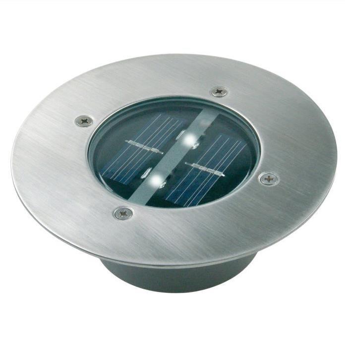 Spot solaire encastrable rond à LED CARLO Achat / Vente Spot