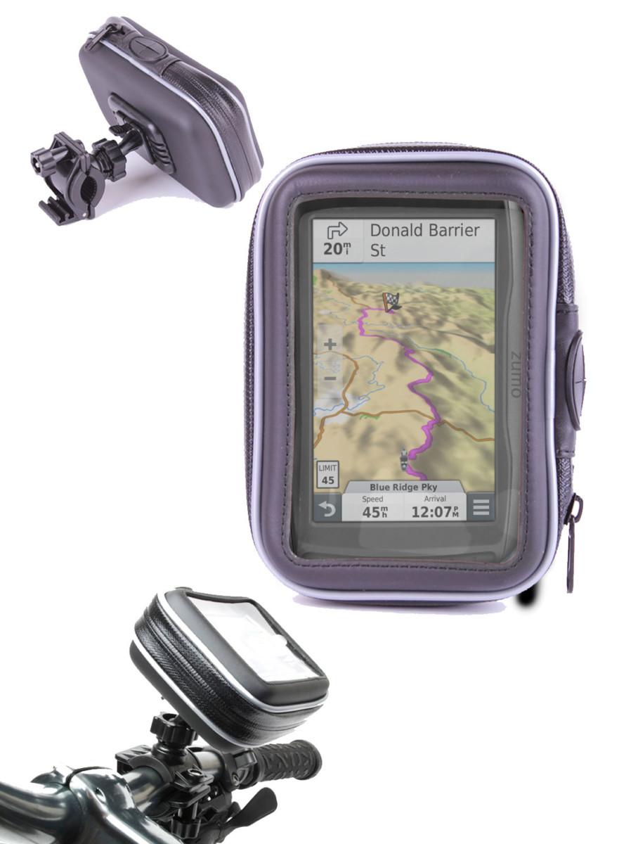 Etui housse de protection et support vélo pour GPS Garmin zumo 590LM