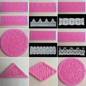 10 Style Dentelle Tapis Silicone Moule Décoration Pâte Savon Fondant