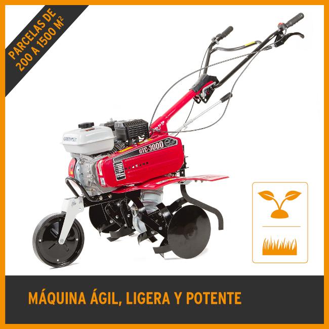 Motoculteur; Motobineuse thermique GTC3000 208cc 7CV