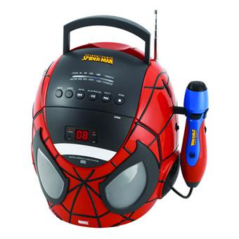 Lexibook Radio Lecteur CD Karaoké Spiderman K11SP Radio CD stéréo