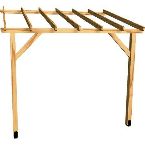 Appenti bois Auvent 1 pan, 6.00 m² |