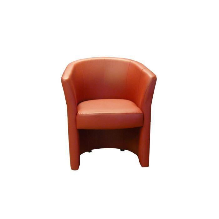 Fauteuil cabriolet rouge Achat / Vente fauteuil Pu, cuir, bois