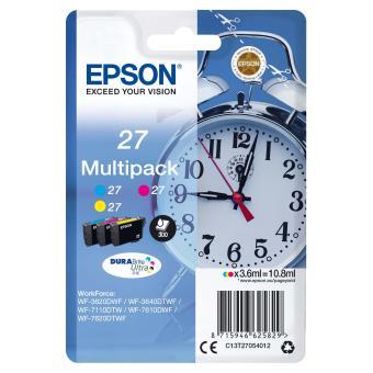 Cartouches d'encre Epson Série Réveil 27, Multipack 3 cartouches