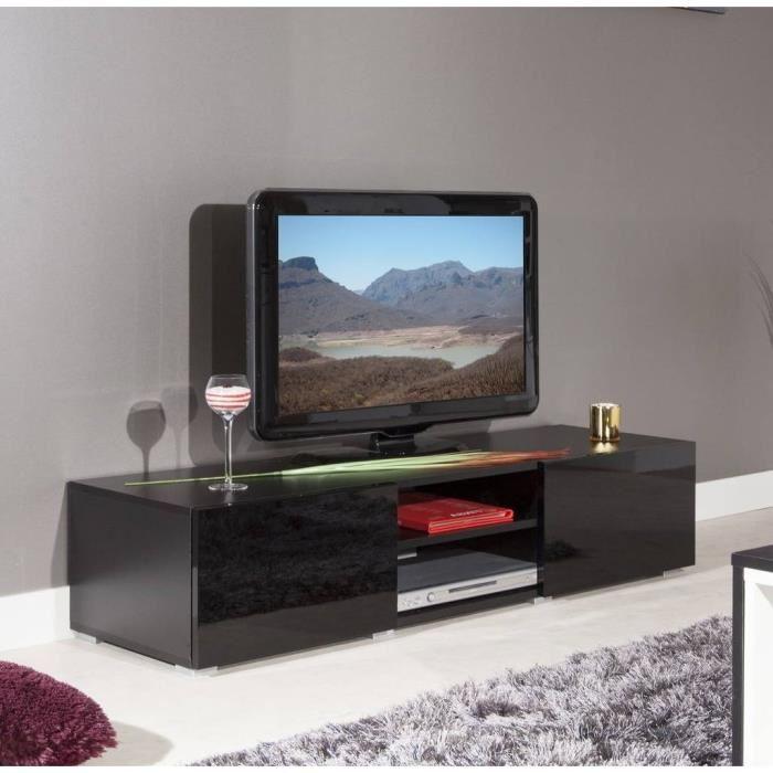 LIME Meuble TV 140 cm noir Achat / Vente meuble tv LIME Meuble TV