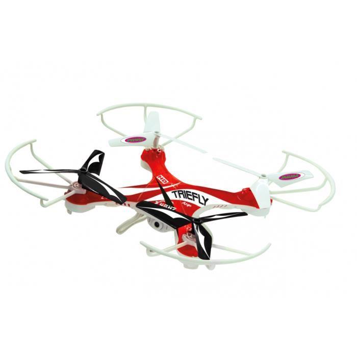 Drone radiocommandé Triefly 2,4 GHz avec caméra et fonction compas