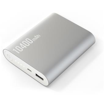 Batterie externe Deluxe XXL 10400 mAh argenté Power bank Batterie