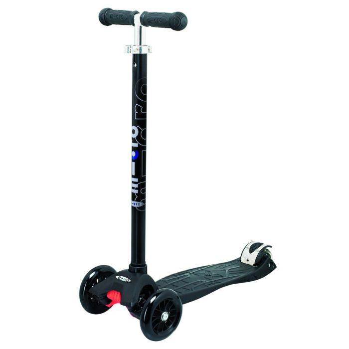 roues Micro maxi noire t bar Achat / Vente Trottinette 3 roues