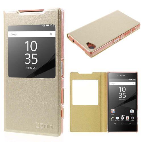Etui En Pu Pour Sony Xperia Z5 Compact Champagne pas cher