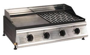barbecue mixte plancha grill Las Palmas inox 4