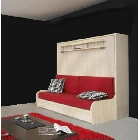 Armoire lit canape topiwall for Lit escamotable 2 personnes