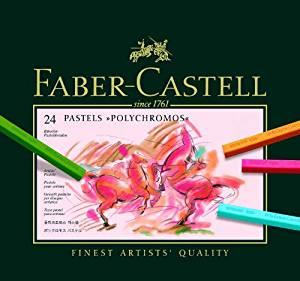 Faber Castell 128524 Craie pastel Polychromos secs boîte de 24