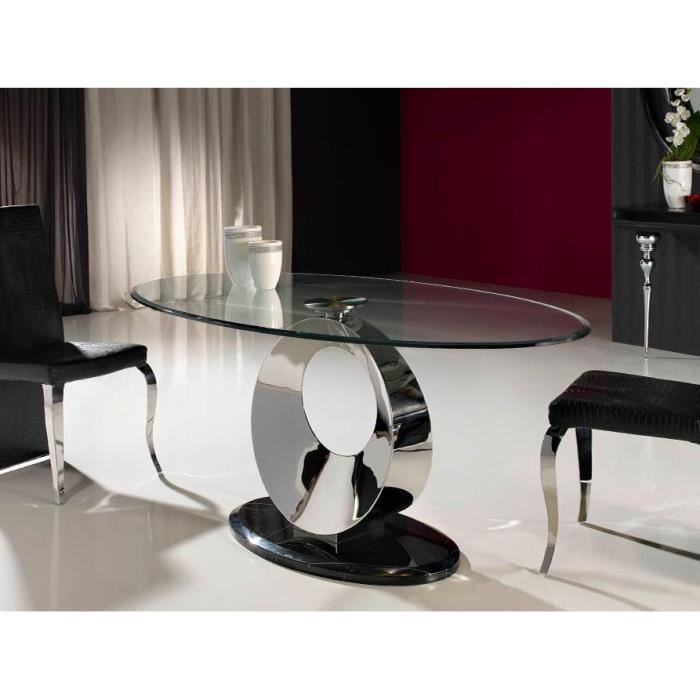 table salle a manger ovale design topiwall. Black Bedroom Furniture Sets. Home Design Ideas