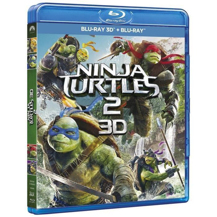 BLU RAY? 2D/3D Ninja Turtles 2 en blu ray film pas cher