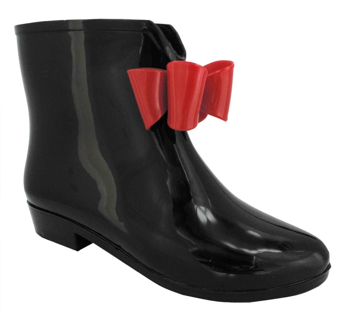 New femme court bottes de pluie mode cheville wellington neige botte
